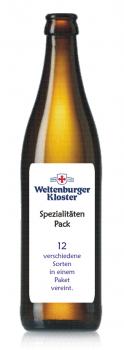 Weltenburger Kloster Spezialitäten plus Öffner - Pack 12x 0,5 Ltr.