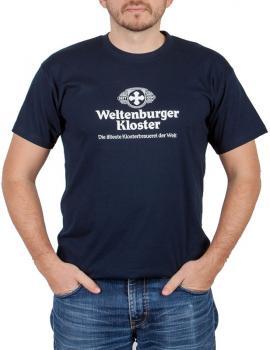 Weltenburger Kloster T-Shirt blau - Stück in XXXL